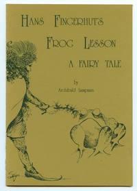 image of Hans Fingerhut's Frog Lesson: A Fairy Tale