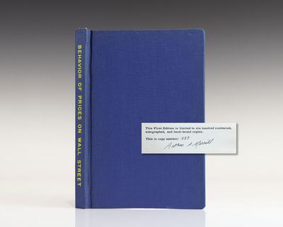 Chappaqua, New York: Analysis Press, 1965. First edition. Octavo, original blue cloth. Limited to si...
