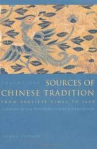 image of Sources of Chinese Tradition, Vol. 1