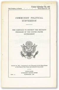 image of Communist Political Subversion. The Campaign to Destroy the Security Programs of the United States Government