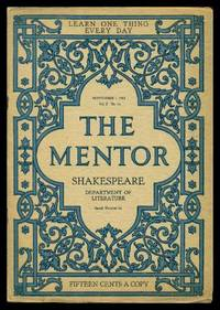 image of THE MENTOR - WILLIAM SHAKESPEARE - September 1 1914 - Serial Number 66 - Volume 2, number 14