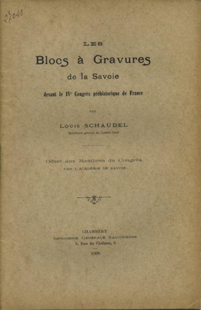 Chambéry, France: Imprimerie Générale Savoisienne, 1908. Offprint. Paper wrappers. A very good un...