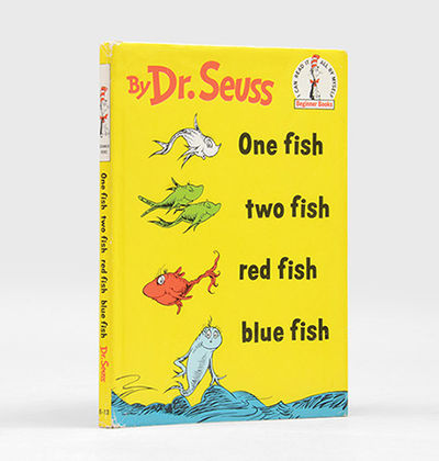 One fish two fish red fish blue fish by seuss dr 1960 for Blue fish book