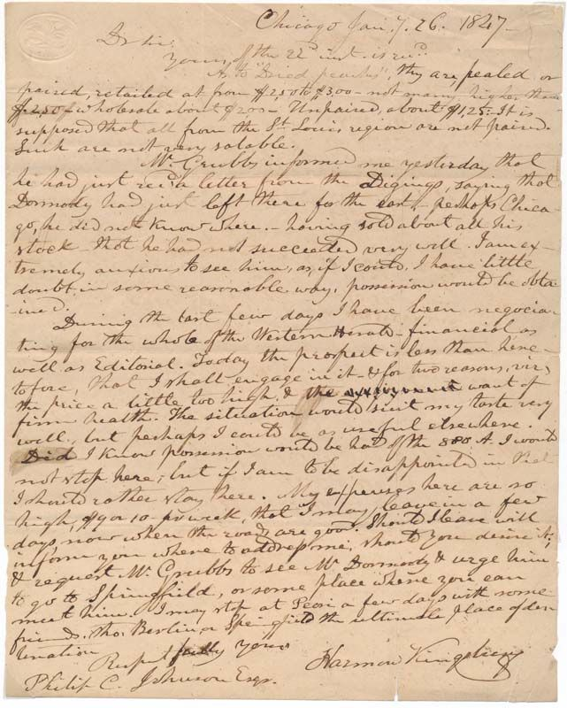 Letter To Friend About Fugitive Slave Law