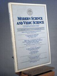 Modern Science and Vedic Science, Vol. I No. 1 1987