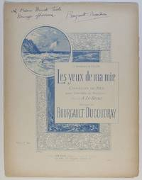 image of Song 'Les yeux de ma mie' ('My sweetheart's eyes'), (Louis Albert, 1840-1910, Breton Composer & Scholar)