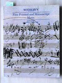 Sale 17 May 1990 : Fine Printed and Manuscript Music.