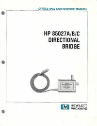 image of HP85027A/B/C Directional Bridge