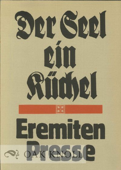 (Düsseldorf, Germany: Eremiten Presse, 1974. stiff paper wrappers. Eremiten. 4to. stiff paper wrapp...