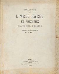 Sale 22-24 Avril 1926 : Livres Rares et Précieux, Gravures, Dessins,  Composant La Bibliothèque De M.H.De V.
