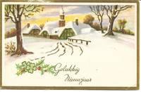 "image of ""Gelukkig Nieuwjaar"" (Happy New Year) Dutch New Year Postcard 1952/1953"