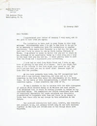 image of TYPED LETTER TO EDUCATOR HAROLD RUGG OF TEACHERS COLLEGE, COLUMBIA UNIVERSITY, SIGNED BY LABOR LAWYER AND LEADING ENVIRONMENTALIST ANTHONY WAYNE SMITH, FUTURE PRESIDENT OF THE NATIONAL PARKS AND CONSERVATION ASSOCIATION.