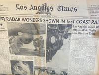 Los Angeles Times, Wednesday Morning, August 15, 1945: Radar Wonders Shown in Test Coast Raid (Newspaper)