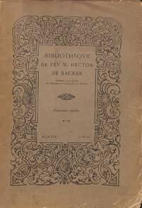 Vente Du 17 Au 20 Fevrier 1926 Bibliotheque De Feu M. Hector De Baker,  Premiere Partie Linguistique Rhetorique Poetique Auteurs Francais Du  XVIIeme Au XVIeme Siecles