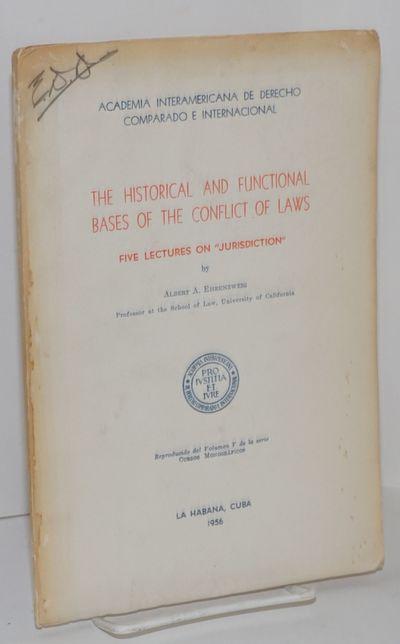 La Habana: Academia Interamericana de Derecho Comparado e Internacional, 1956. Paperback. Offprint, ...