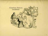 image of Charles Heriot, encadreur, 15 rue du Delta.  Lithograph advertisement for Paris frame maker