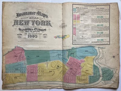 New York: Sanborn Perris, 1893. hardcover. Map. Lithograph with original hand coloring. Backed with ...
