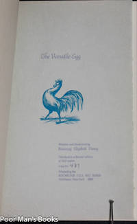 THE VERSATILE EGG by Rosemary Elizabeth Disney - Signed First Edition - 1987 - from poor mans books and Biblio.com
