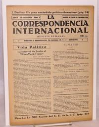 image of La correspondencia internacional; revista semanal, año VI, num. 3, 19 enero 1934