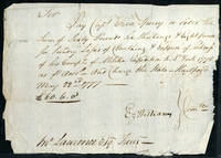 Autograph Revolutionary War Pay Order, signed by Capt. Ezra Speary, Ez. Williams and Jno. Lawrence, Esq. Treas