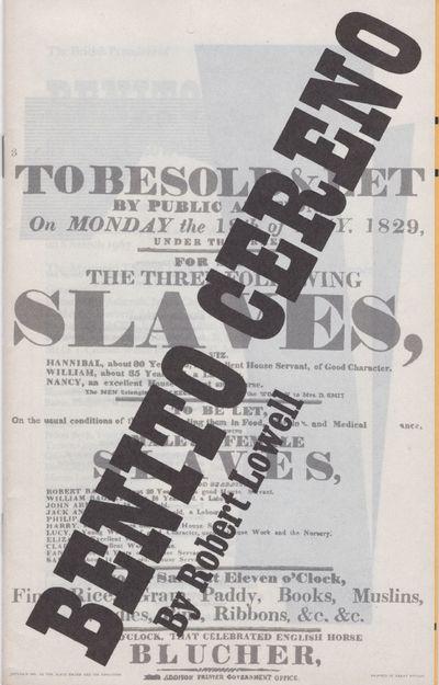 : The Mermaid Theatre, 1967. Paperback. Fine. Paperback. Theatre program. Benito Cereno is the third...