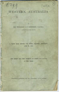 Western Australia, A Paper Read Before the Royal Colonial Institute June 11, 1895