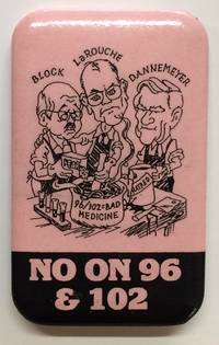 No on 96 & 102 [pinback button]