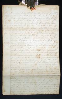 image of Republic of Texas, 6 Page Legal Document, March 24, 1845, Presided Over By Royall Tyler Wheeler (1810-1864)