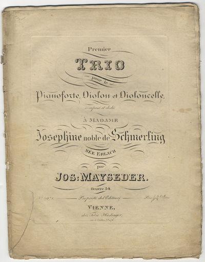 Vienne: Tobie Haslinger , 1842. Folio. Unbound. Pianoforte: 1f. (title), 25, (blank) pp.; Violino: (...