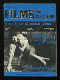 New York: National Board of Review. Very Good+. 1981. (Vol. XXXI, No. 9). Periodical. . (B&W photogr...
