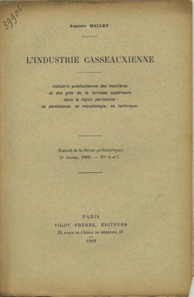 Paris: Vigot Frères, Éditeurs, 1909. Offprint. Paper wrappers. A very good copy with a chip to low...