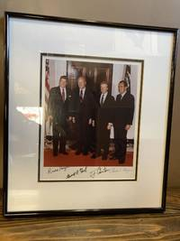 SIGNED PHOTOGRAPH OF PRESIDENTS REAGAN, FORD, CARTER, AND NIXON