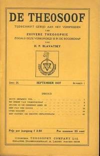 De Theosoof, tijdschrift gewijd aan het verspreiden van zuivere theosophie zooals deze verkondigd is in de boodschap van H.P. Blavatsky. Deel IX, 1937-1938