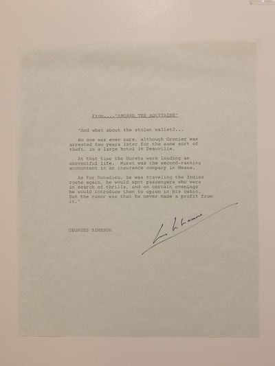 unbound. very good. Souvenir typescript signed