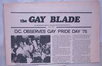 image of The Gay Blade [aka The Blade & Washington Blade] vol. 6, #7, July 8, 1975: D.C. Observes Gay Pride Day '75