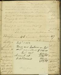image of Madison County NY School record book, 1823 - 1828, with late entries for 1851