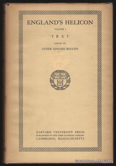 Cambridge:: Harvard University Press,. Very Good in Very Good dust jacket. 1935. Hardcover. First ed...