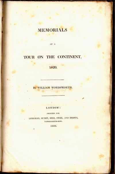London: Longman, Hurst, Rees, Orme and Brown, 1822. First Edition. Tall 8vo, pp. viii, 103 + 4pp of ...