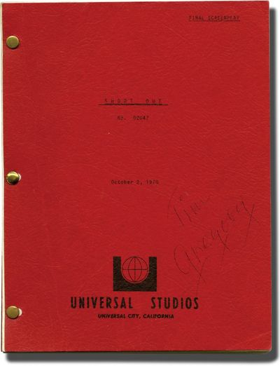 Universal City, CA: Universal Pictures, 1970. Final Draft script for the 1971 film. Copy belonging t...