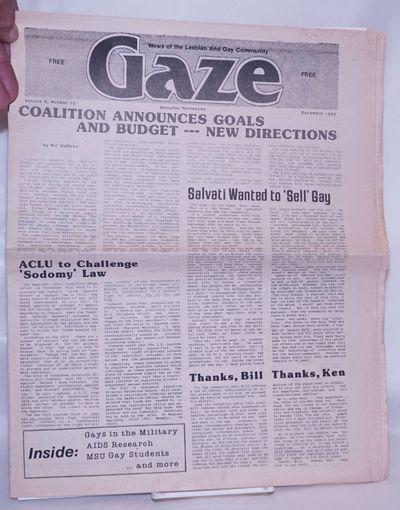 Memphis: Memphis Gay Media, 1982. Newspaper. 12p. folded tabloid newspaper, features, columns, news,...