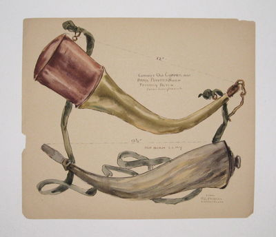 1892, 1892. Watercolor drawing on paper. Image measures 7 1/2