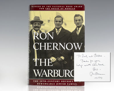 New York: Random House, 1993. First edition of Ron Chernow's ambitious saga of the Warburg dynasty. ...