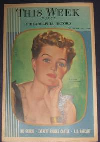 This Week  Magazine Section Philadelphia Record Mrs. Tupper