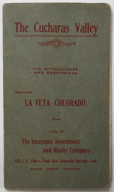 Colorado Springs, 1900. About very good.. pp. on an accordion folded sheet. Original green wrappers,...