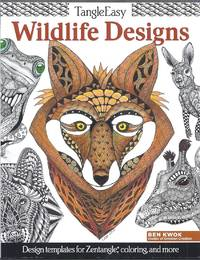 TangleEasy Wildlife Designs. Design templates for Zentangle, coloring, and more