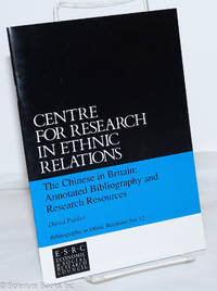image of The Chinese in Britain: annotated bibliography and research resources