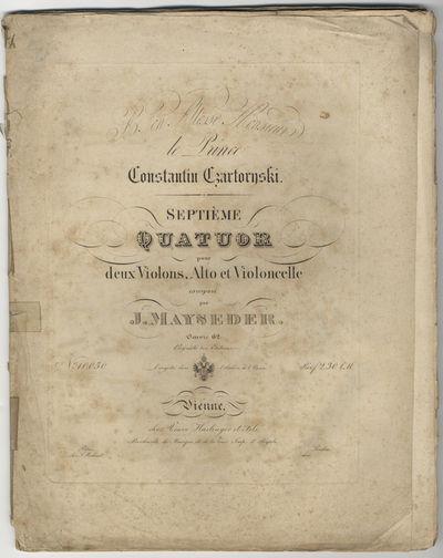 Vienne: Veuve Haslinger et Fils , 1846. Folio. Unbound. Violino 1mo: (title), 2-15, (blank) pp.; Vio...