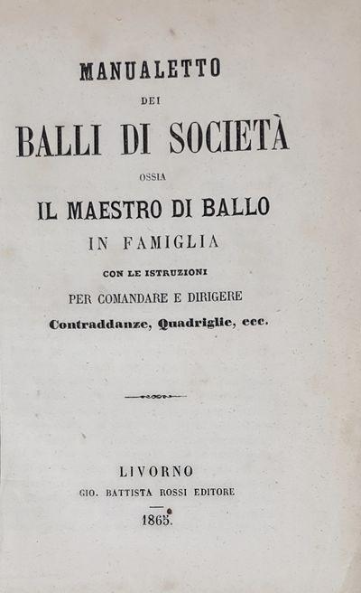 Manualetto Dei Balli Di Società.