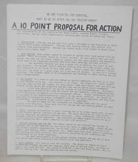 A 10 Point Proposal for Action: [handbill] for consideration by the Coalition for Human Rights, Lesbian Rights Alliance, Gay ACtion, and any other organizations building mass action to defend our rights