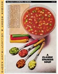 McCall's Cooking School Recipe Card: Soups 7   Gazpacho : Replacement  McCall's Recipage or Recipe Card For 3 Ring Binders : McCall's Cooking  School Cookbook Series